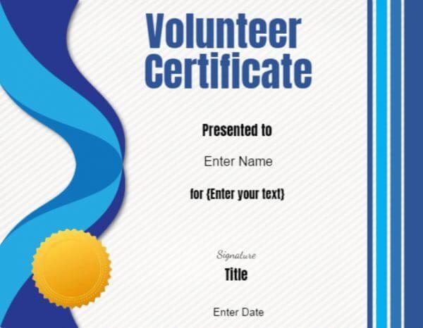 Volunteer Certificate Of Appreciation Certificate Of Appreciation Certificate Templates Awards Certificates Template