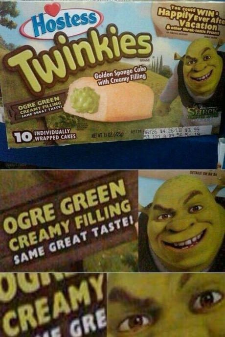 Omg  shrek's nasty