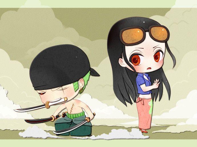 <3 Zoro & Robin