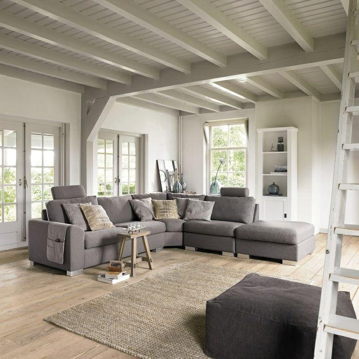 Meer dan 1000 idee n over grijze banken op pinterest slaapkamers scandinavische meubels en - Slaapkamer met zichtbare balken ...