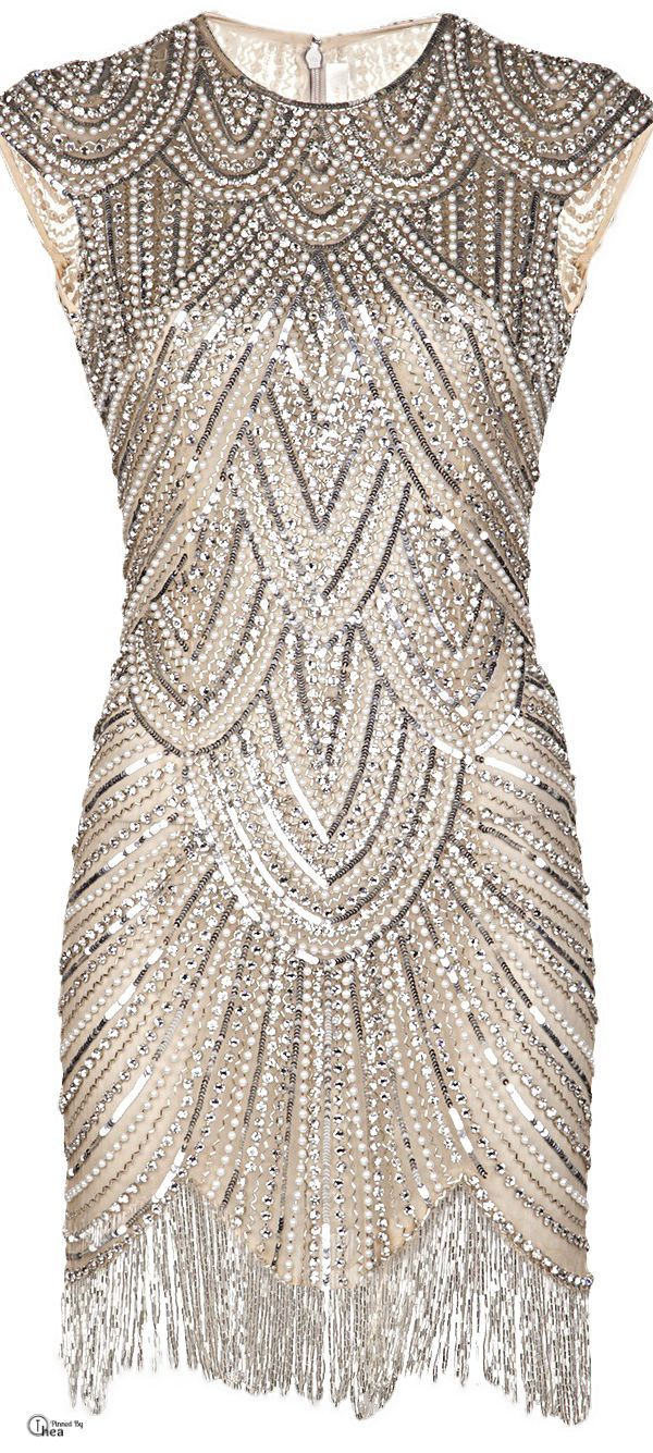 Vintage Bergdorf Goodman Bugle Beaded Cocktail Dress by Vigan, $215.00