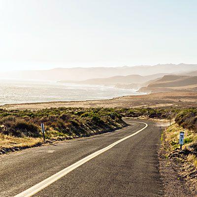 Golden road, Santa Barbara County: The scenic road to Jalama Beach.