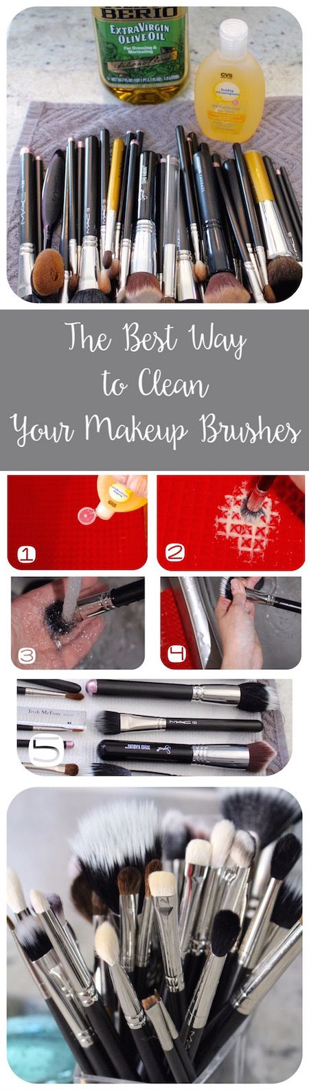 The best brush cleaning tutorial! So easy and makes my brushes like new again!