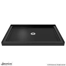 dreamline slimline black acrylic shower base common 34in w x 48in