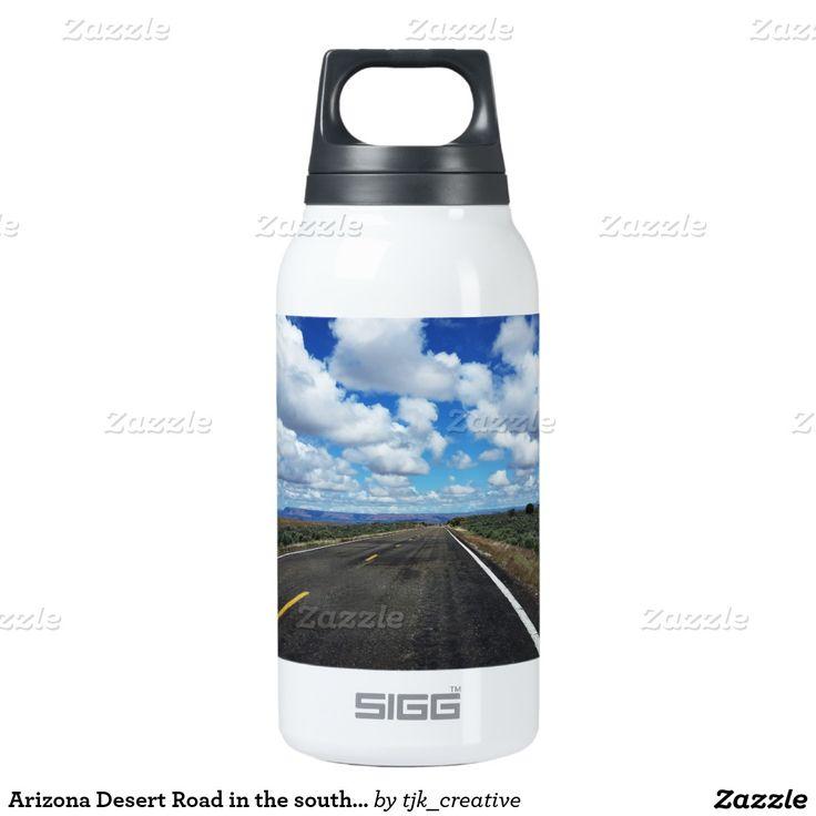 Arizona Desert Road in the southwestern U.S. Insulated Water Bottle