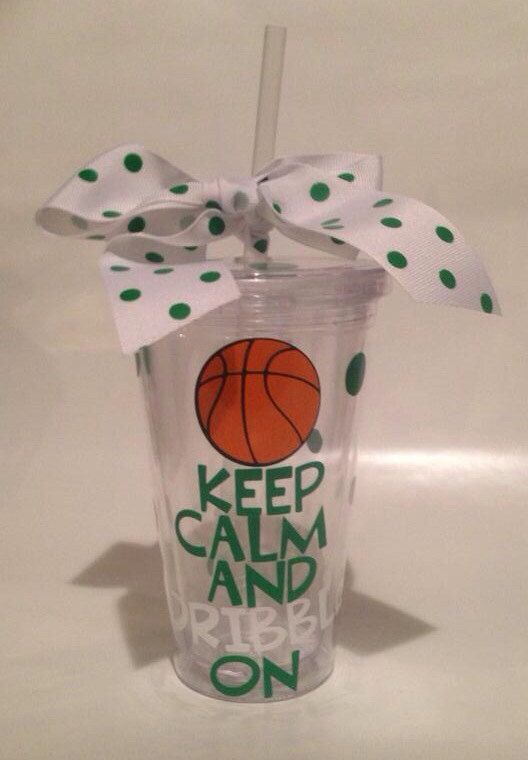 Team spirit basketball tumbler keep calm by PutYourNameOnIt2014