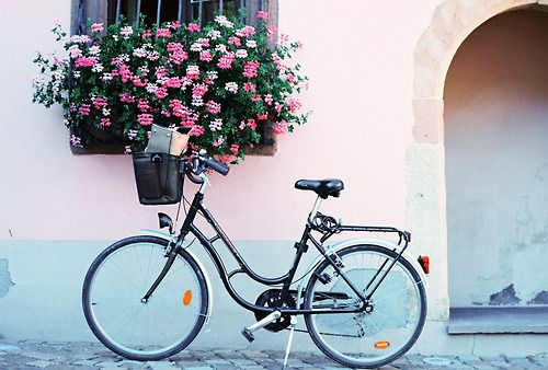 THIS bike for pedaling around Europe someday, baguette in the basket.  I can dream...