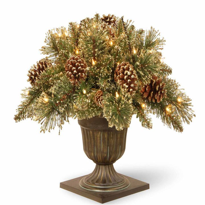 NATIONAL TREE CO National Tree Co. 2 Foot Glittery Gold Pine Porch Pre-Lit Christmas Tree#afflink