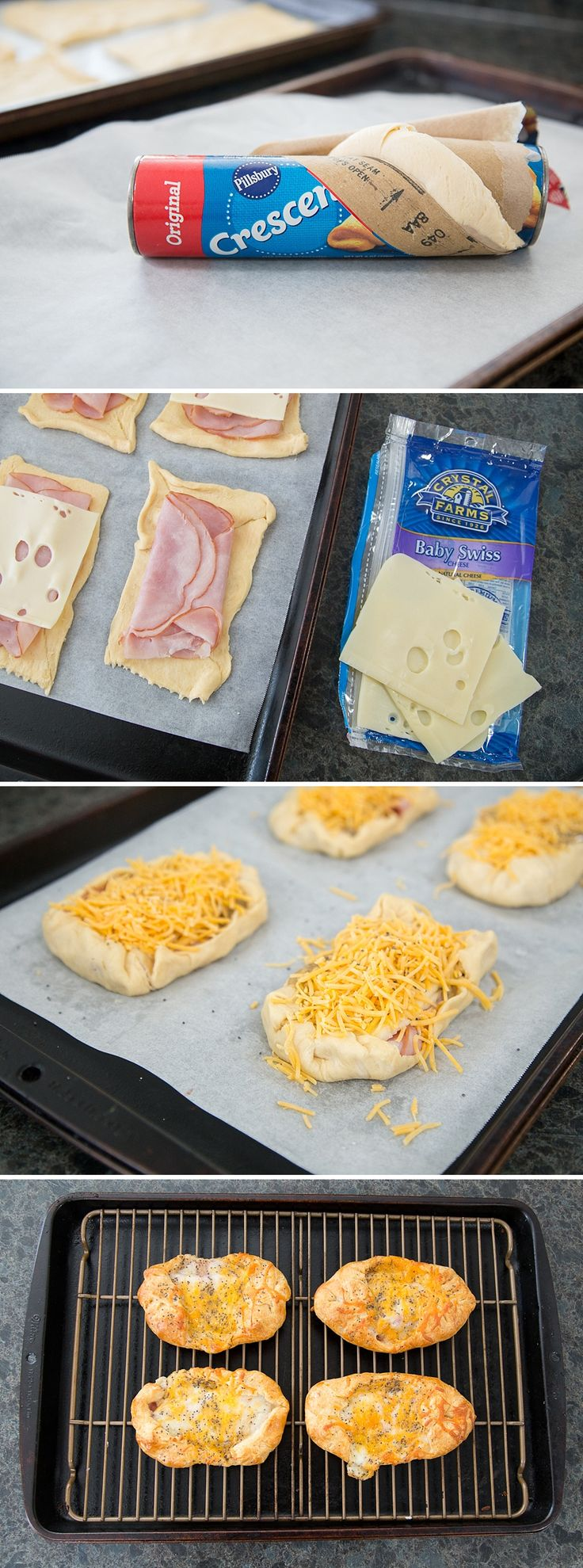 These Ham & Cheese Crescent Puffs are the perfect family-friendly brunch recipe. Wether you're looking for a delicious breakfast snack or something special for a holiday party, this simple recipe is perfect. *This sounds amazing. Love the mustard glaze recipe too. Bookmarking this for Easter.
