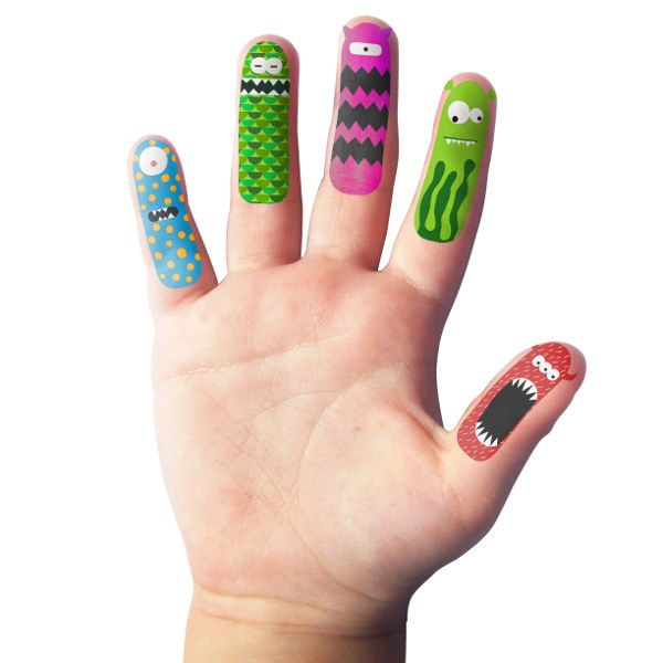 My Sweet Muffin - Finger Monster Temporary Tattoos