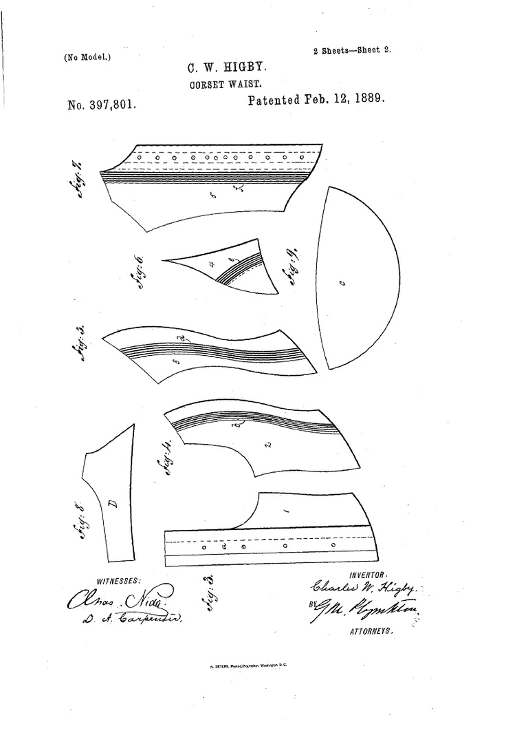 1889 Patent US397801 - CORSET-WAIST - Google Patents