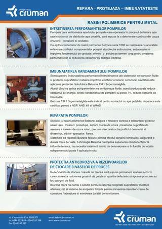 Rasini polimerice pentru metal | Industrial Cruman Ploiesti