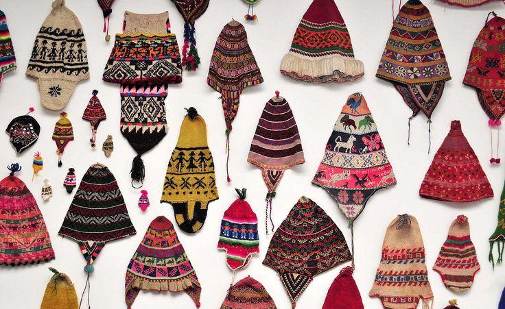 Bolivia. Chullos. Museo de intrumentos musicales de Ernesto Cavour. La Paz, Bolivia