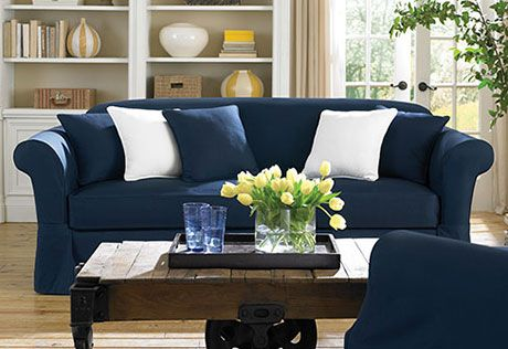 Sure Fit Slipcovers Twill Supreme Separate Seat Slipcovers