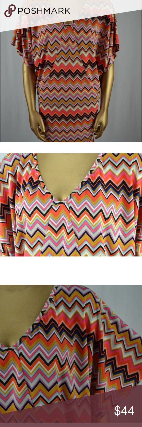 TRINA TURK BRIGHT CHEVRON MINI SHIFT STRETCH DRESS TRINA TURK BRIGHT COLORED CHEVRON STRIPED BAT WING SHIFT DRESS. SIZE S FUN & COMFY. POLY & SPANDEX. THANK YOU FOR YOUR CONSIDERATION. PLEASE, FEEL FREE TO ASK ME ANY QUESTIONS. Trina Turk Dresses