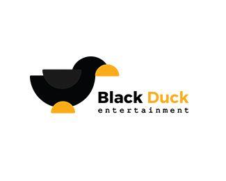 Black Duck Entertainment Logo design - Minimal logo design. The tagline says entertainment but I would suggest for anyone who loves minimal,flat logo designs. Price $350.00