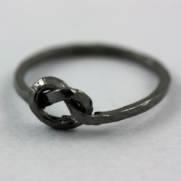Gold filled knot ring, bridesmaid ring, black rhodium, friendship ring, sterling silver, gift for women by ulalajewels on Etsy