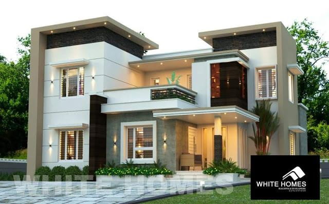 4 Bedroom Space Efficient Modern House In 5 Cent Plot With Free House Plan Free Kerala House Design Modern Contemporary House Plans Small House Design Plans