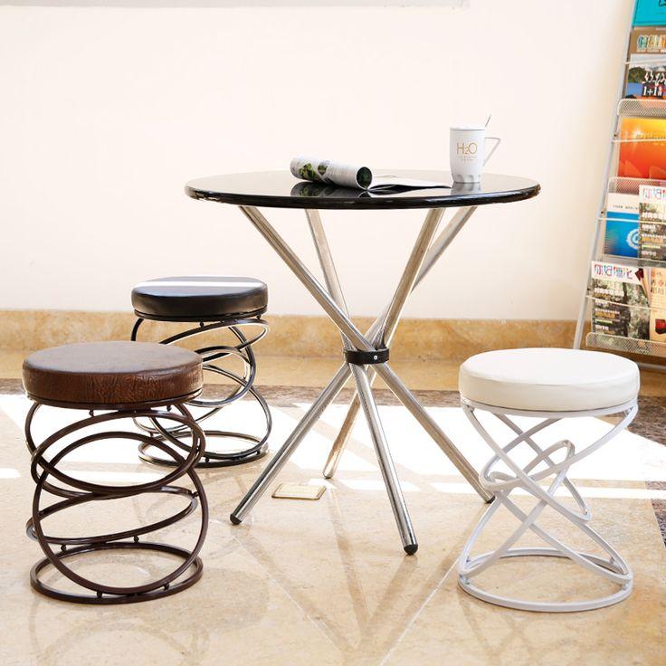El alambre del hierro del metal de moda creativa bar taburete silla taburete simple silla del ocio