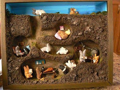 Underground diorama -- so cute! Loved by www.alittlebirdtoldme.nl || webshop - necessary accessories
