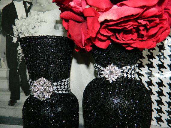 I will be making these! Wedding Centerpiece Wedding Decorations Silver Black by KPGDesigns, $39.00