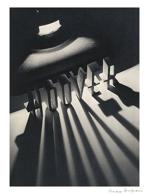 """© Max Dupain, 1937, Advertisement for Hoover """"Theoretically the photographer has been possessed of an inferiority state; this has been created by the critics' disdain. 'But photography is not Art' has..."""
