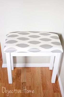great tutorial for making this small side table into a bench!!