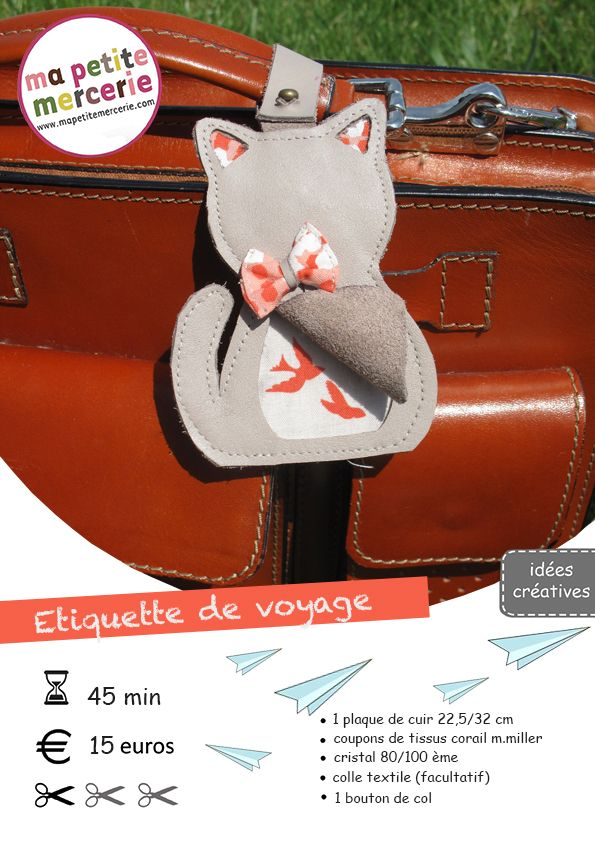 DIY : mon chat voyageur ! - Ma petite Mercerie, le blog