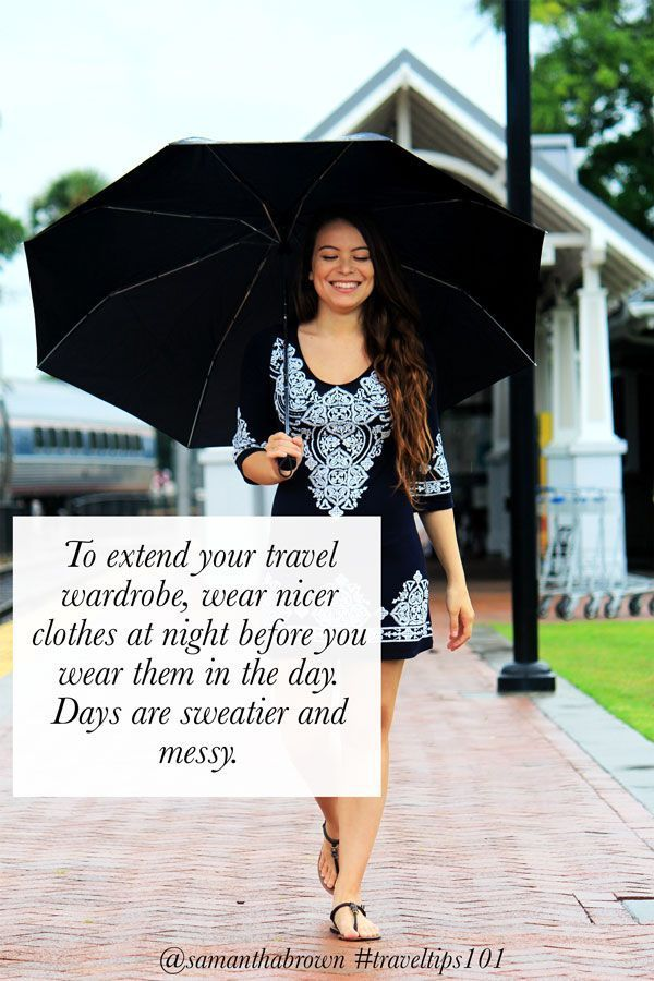 One easy way to extend your travel wardrobe. #traveltips101
