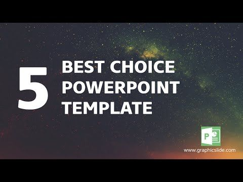 Yeah, so you're going to want to check out The 5 Best Choice Powerpoint Template