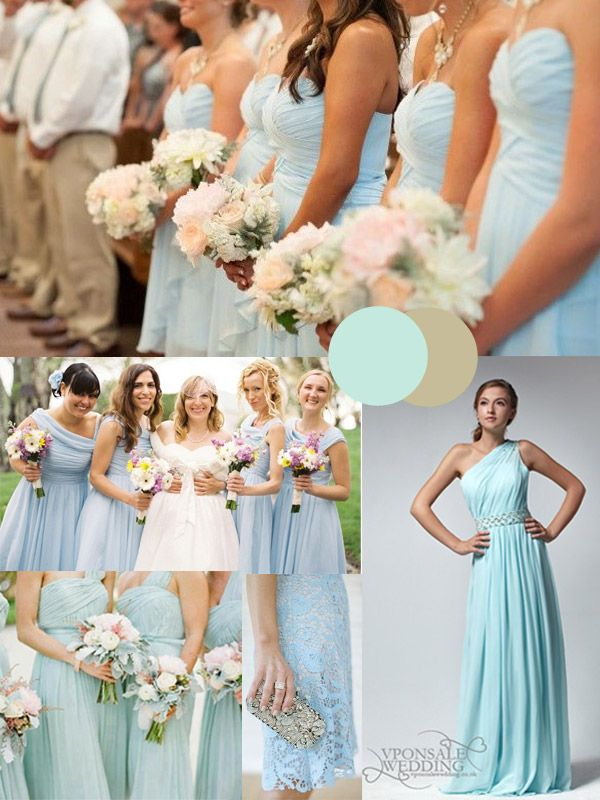 Wedding trends blue wedding color themes for winter 2013 for Winter wedding colors for bridesmaids dresses