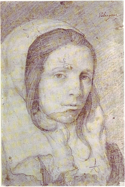 diego elazquez drawing of a young woman