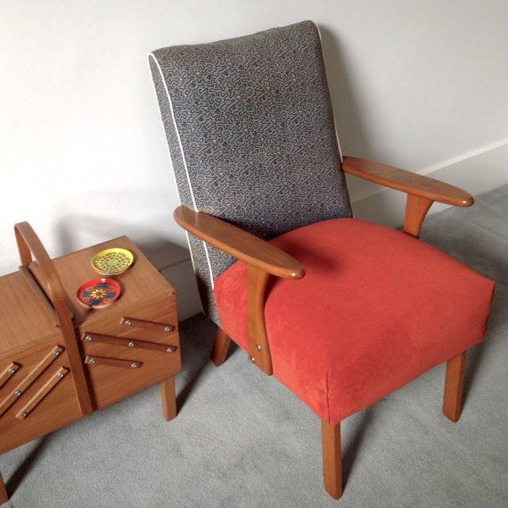 Check out this item in my Etsy shop https://www.etsy.com/listing/209068089/retro-vintage-60s-armchair
