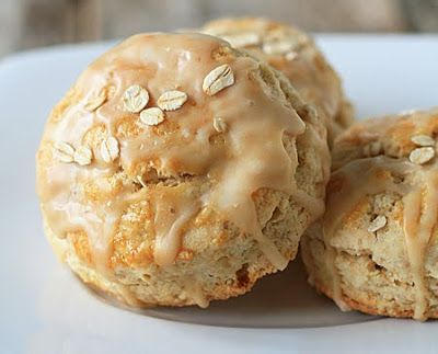 Maple and oatmeal combine in a luscious buttery scone for breakfast nirvana.