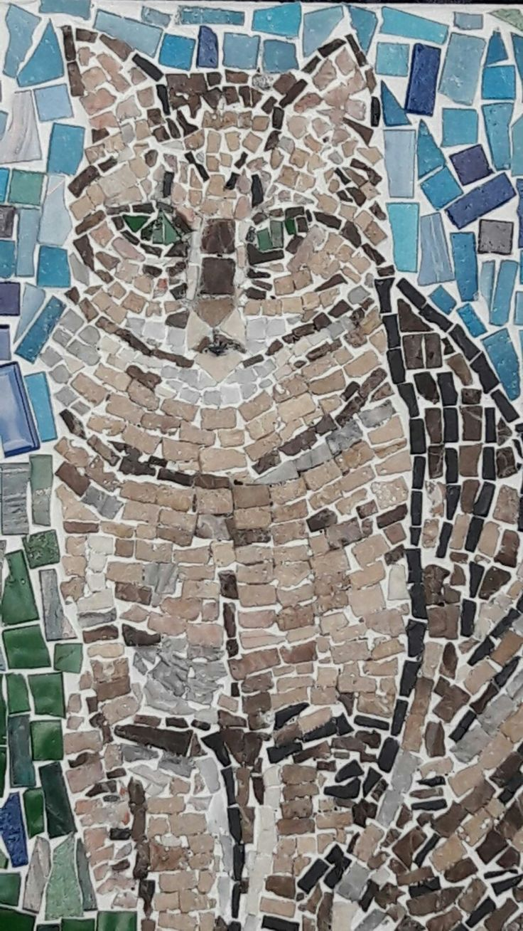 Patrik: marbel & glass mosaic by Rely