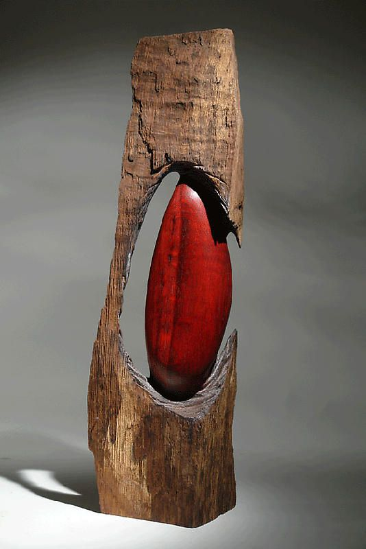 """Christophe Nancey ~ """"Out of the Wood"""" ~ Oak - Wood Sculpture"""