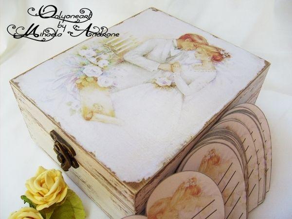 Bride and groom wedding box – cutie pentru nunta