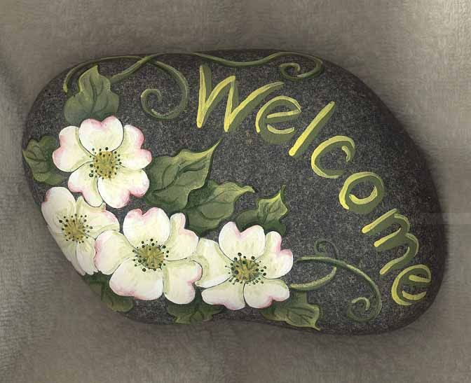 Rock Painting: Welcome Sign