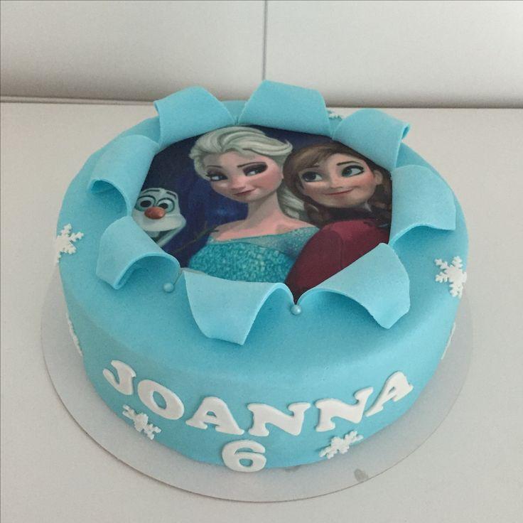 Frozen Anna Elza Olaf taart