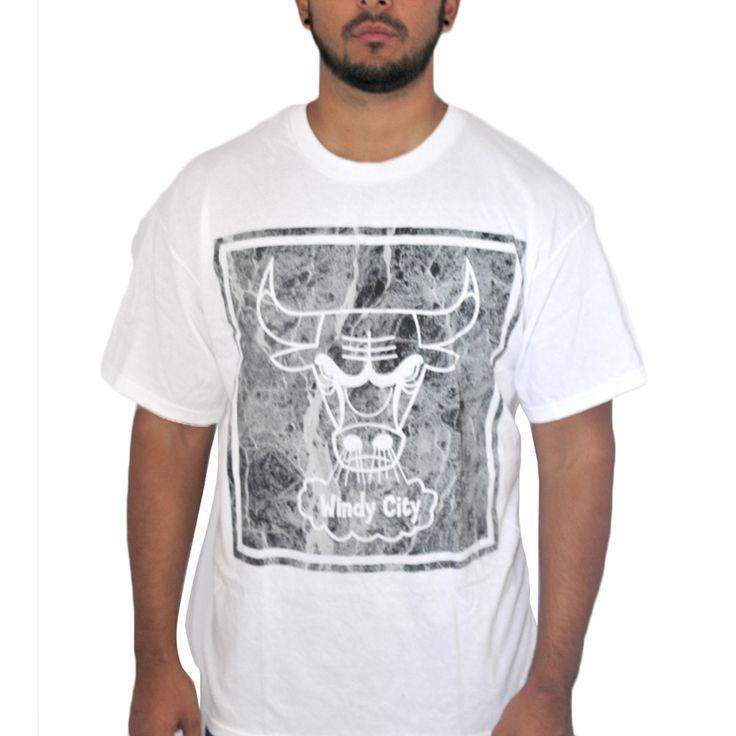 We Love Fine Chigago Bulls Mosaic White T-shirt