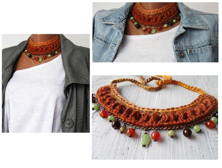 Excited to share the latest addition to my #etsy shop: Knitted woman choker in Boho style, woman brown necklace with natural beads, rustic jewelry, boho necklace for girl birthday present for her http://etsy.me/2Cu45o7 #jewelry #necklace #brown #birthday #halloween #na