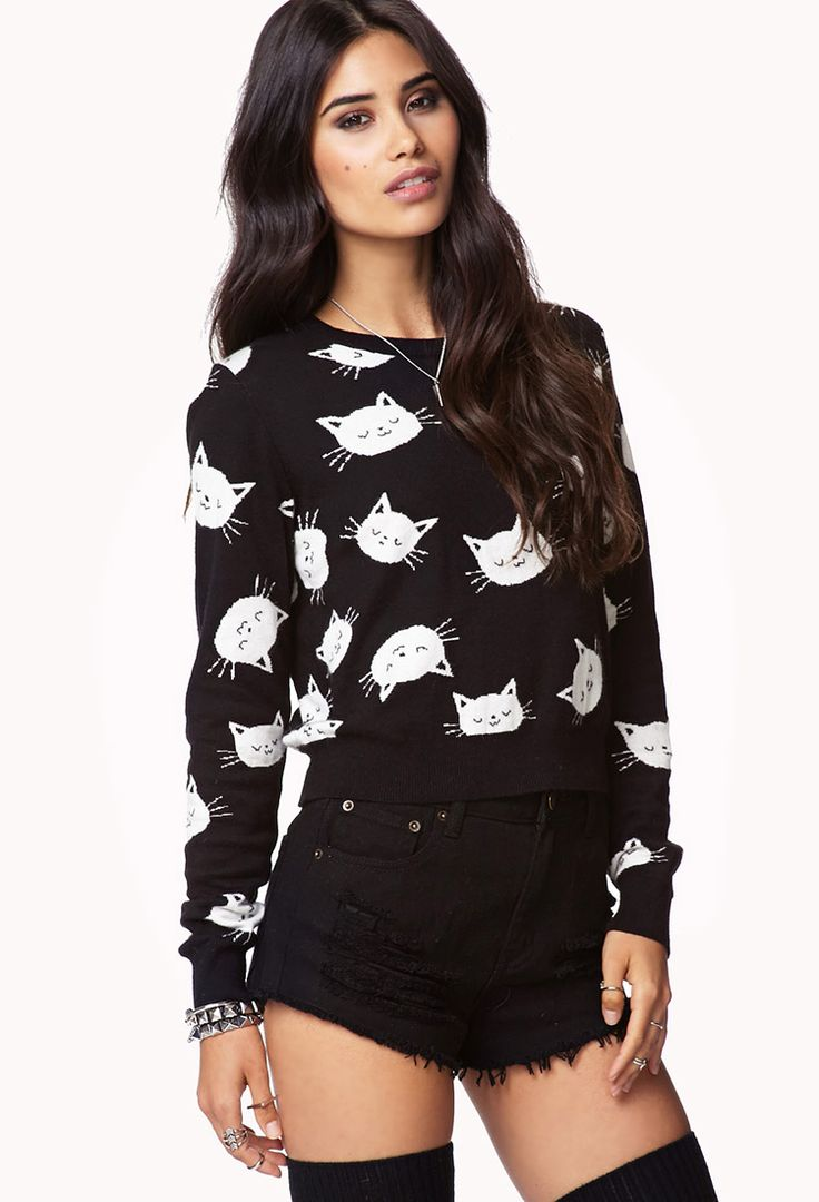 Best 20+ Cat sweaters ideas on Pinterest | Casual xl, Sweaters for ...