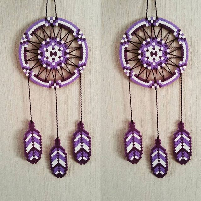 Dreamcatcher hama beads by sistyria
