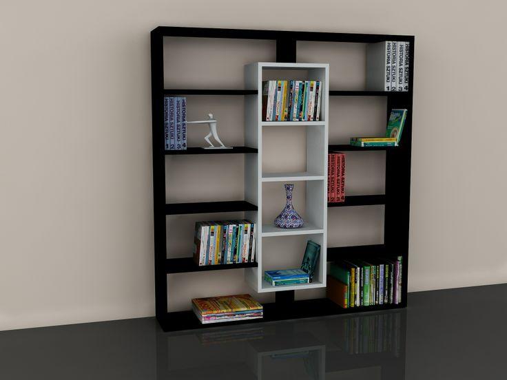 Ample Kitaplık Siyah-Beyaz 179,00 TL