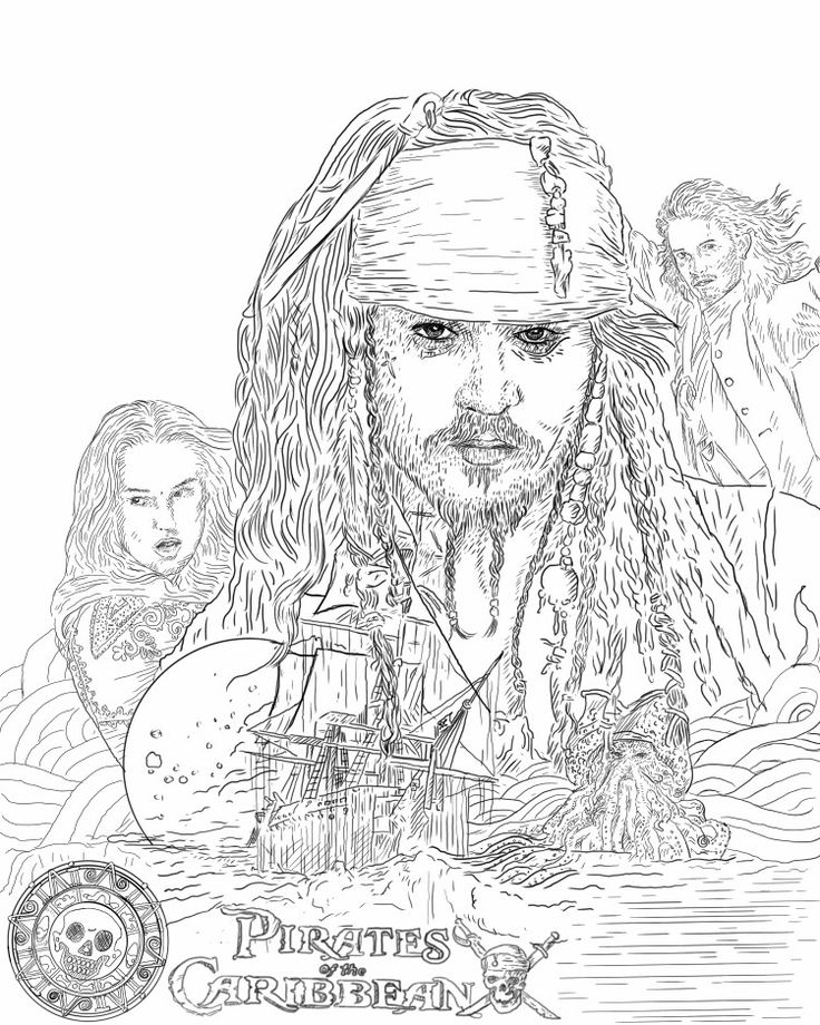 sketch Illustration Pirates Of The Caribean