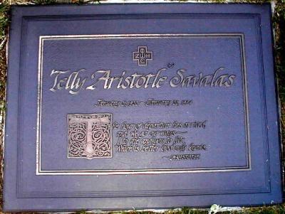 "Aristotelis ""Telly"" Savalas.  American actor and singer. 1922-1994"