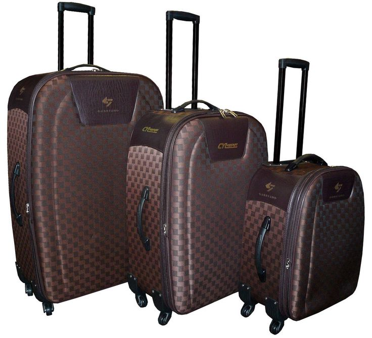 3 Piece/set Brown Color Charlie Sport Ultra Light Suitcase, Travel luggage set #CharlieSports