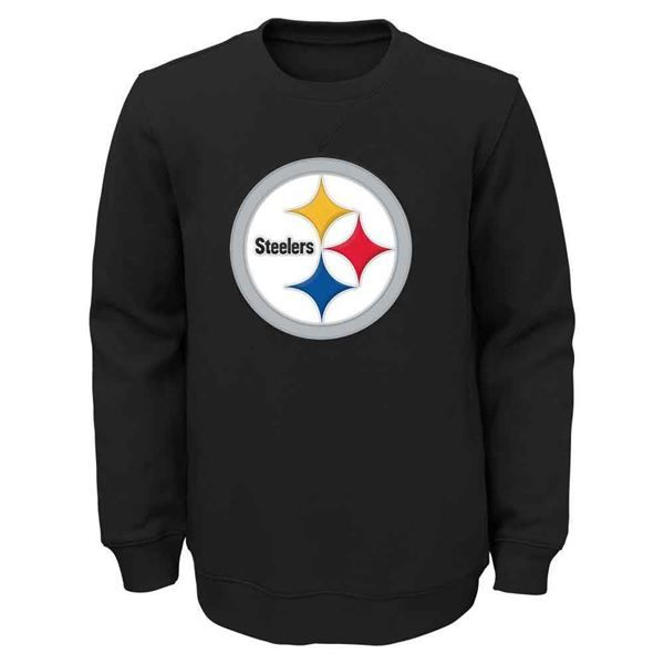 Picture of Pittsburgh Steelers Youth Black Prime Crew