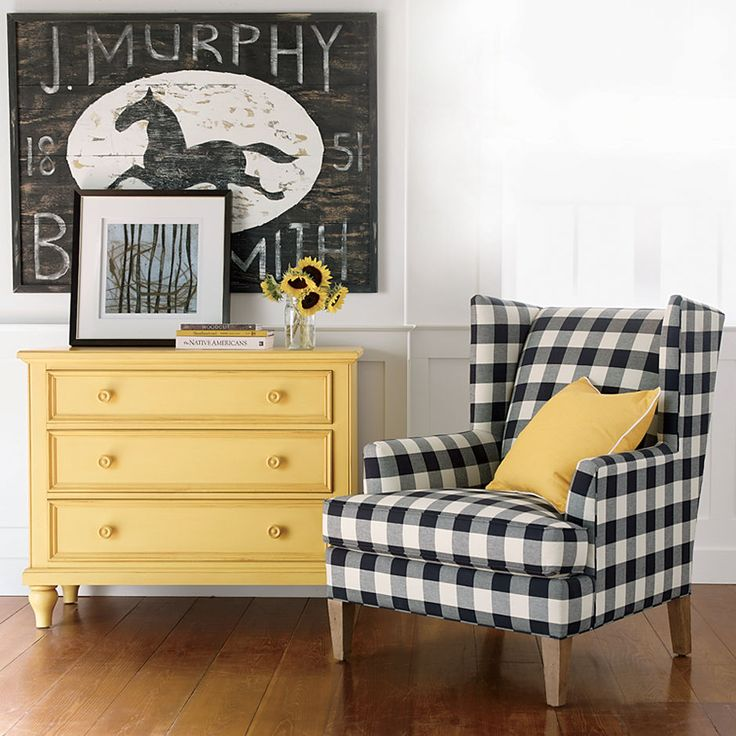 Vintage Country. Ethan Allen New Country chest, Parker chair and J. Murphy Blacksmith Sign wall decor.: