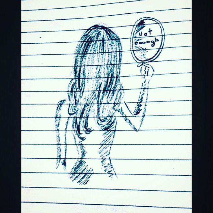She is not enough  [Anorexia nervosa] [eating disorder] [depression] [death of a girl]